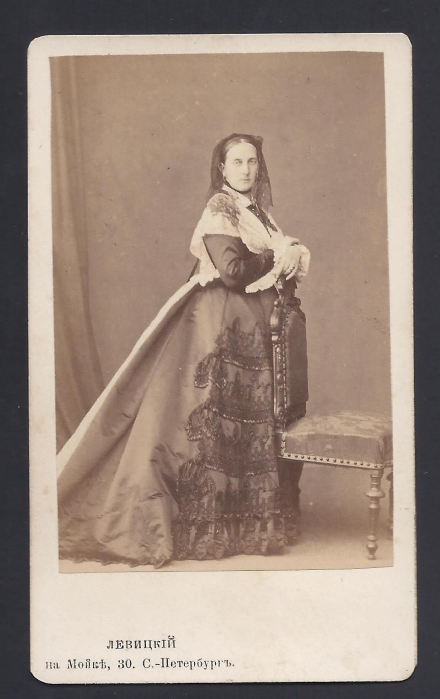 Grand Duchess Marie Leuchtenberg Levitsky CDV Photo Signed by Count Strogonoff